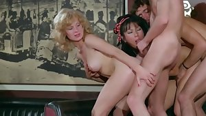 Vintage group sex in the bar