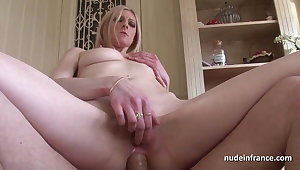 Stunning french light-complexioned hard anal pounded