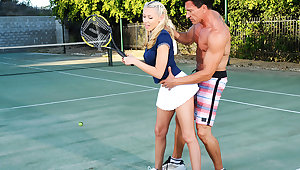 Katie Summers & Marco Banderas helter-skelter Naughty Athletics