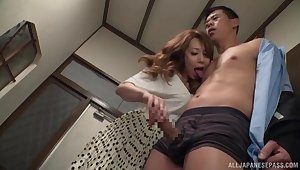 Japan milf mill her undertaking son's dick in perfect ways