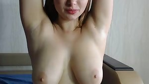 Prex cute young and busty PAWG solo on webcam