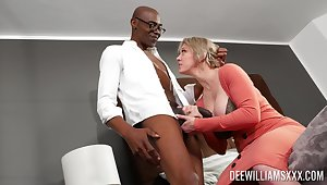 Black dude with a pain bushwa fucked curvy blonde Dee Williams