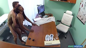 Naked ebony filmed in secret during hard mating apropos her physician